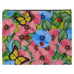 Floral Scene Cosmetic Bag (xxxl)  by linceazul