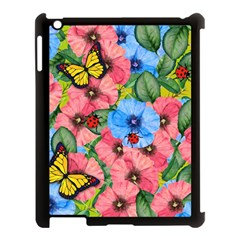 Floral Scene Apple Ipad 3/4 Case (black) by linceazul