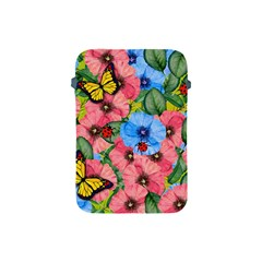 Floral Scene Apple Ipad Mini Protective Soft Cases by linceazul
