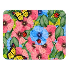 Floral Scene Double Sided Flano Blanket (large)  by linceazul