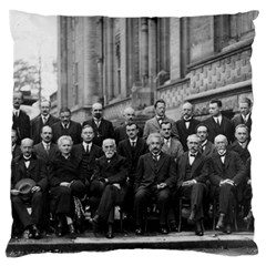 1927 Solvay Conference On Quantum Mechanics Large Cushion Case (two Sides) by thearts