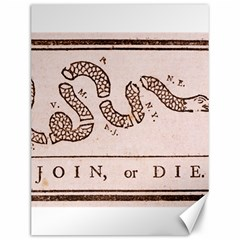Original Design, Join Or Die, Benjamin Franklin Political Cartoon Canvas 12  X 16   by thearts