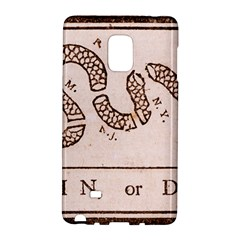 Original Design, Join Or Die, Benjamin Franklin Political Cartoon Galaxy Note Edge by thearts