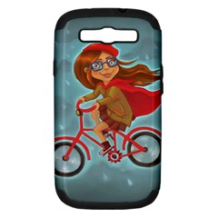 Girl On A Bike Samsung Galaxy S Iii Hardshell Case (pc+silicone) by chipolinka
