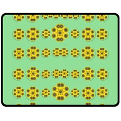 Sun Flowers For The Soul At Peace Fleece Blanket (medium)  by pepitasart