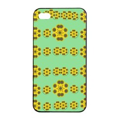 Sun Flowers For The Soul At Peace Apple Iphone 4/4s Seamless Case (black)