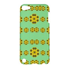 Sun Flowers For The Soul At Peace Apple Ipod Touch 5 Hardshell Case by pepitasart