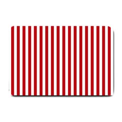 Red Stripes Small Doormat  by jumpercat