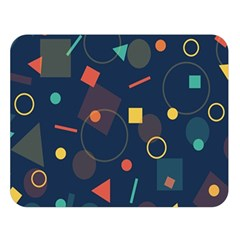 Blue Background Backdrop Geometric Double Sided Flano Blanket (large)  by Nexatart