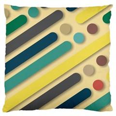 Background Vintage Desktop Color Large Cushion Case (two Sides) by Nexatart