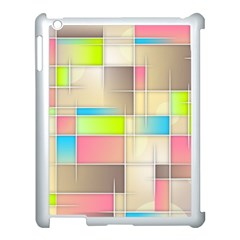 Background Abstract Grid Apple Ipad 3/4 Case (white) by Nexatart