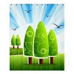Landscape Nature Background Shower Curtain 60  X 72  (medium)