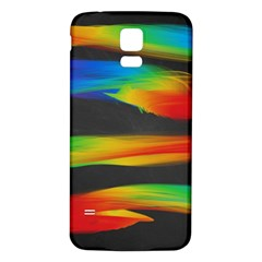 Colorful Background Samsung Galaxy S5 Back Case (white) by Nexatart