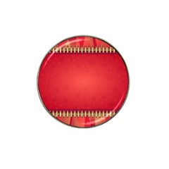 Background Red Abstract Hat Clip Ball Marker (4 Pack)