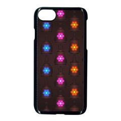 Lanterns Background Lamps Light Apple Iphone 8 Seamless Case (black) by Nexatart