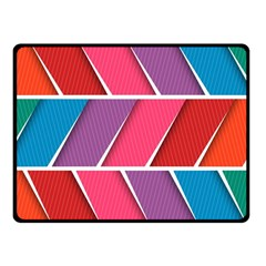 Abstract Background Colorful Fleece Blanket (small)