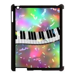 Piano Keys Music Colorful 3d Apple Ipad 3/4 Case (black) by Nexatart