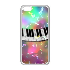 Piano Keys Music Colorful 3d Apple Iphone 5c Seamless Case (white) by Nexatart