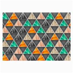 Abstract Geometric Triangle Shape Large Glasses Cloth