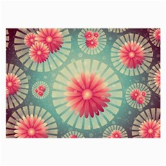 Background Floral Flower Texture Large Glasses Cloth by Nexatart