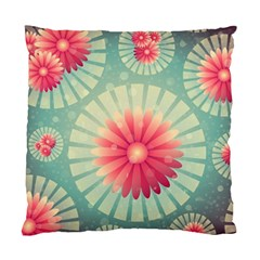 Background Floral Flower Texture Standard Cushion Case (two Sides) by Nexatart