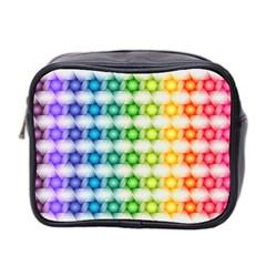 Background Colorful Geometric Mini Toiletries Bag 2 Side by Nexatart