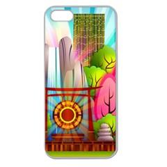 Zen Garden Japanese Nature Garden Apple Seamless Iphone 5 Case (clear) by Nexatart