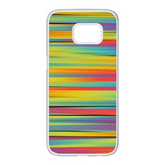 Colorful Background Samsung Galaxy S7 Edge White Seamless Case by Nexatart