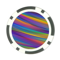 Colorful Background Poker Chip Card Guard (10 Pack) by Nexatart