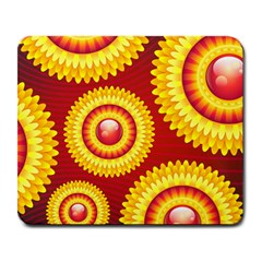 Floral Abstract Background Texture Large Mousepads by Nexatart