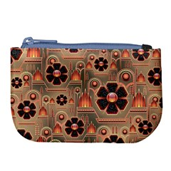 Background Floral Flower Stylised Large Coin Purse by Nexatart