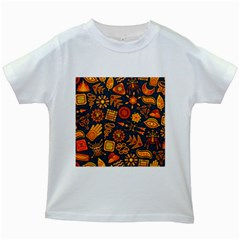 Pattern Background Ethnic Tribal Kids White T Shirts by Nexatart