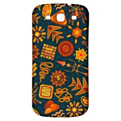 Pattern Background Ethnic Tribal Samsung Galaxy S3 S Iii Classic Hardshell Back Case by Nexatart