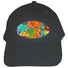 Background Colorful Abstract Black Cap by Nexatart