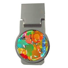 Background Colorful Abstract Money Clips (round)  by Nexatart