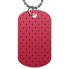 Watermelon Minimal Pattern Dog Tag (one Side) by jumpercat