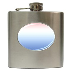 Red And Blue Hip Flask (6 Oz) by jumpercat
