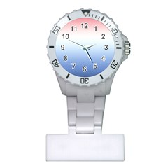 Red And Blue Plastic Nurses Watch