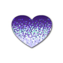 Purple Disintegrate Heart Coaster (4 Pack)  by jumpercat