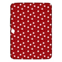 Floral Dots Red Samsung Galaxy Tab 3 (10 1 ) P5200 Hardshell Case  by snowwhitegirl
