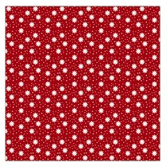 Floral Dots Red Large Satin Scarf (square) by snowwhitegirl