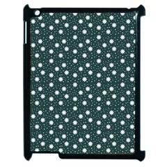 Floral Dots Teal Apple Ipad 2 Case (black) by snowwhitegirl