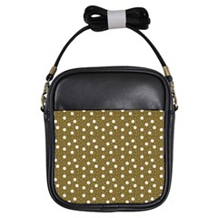 Floral Dots Brown Girls Sling Bags