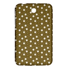 Floral Dots Brown Samsung Galaxy Tab 3 (7 ) P3200 Hardshell Case  by snowwhitegirl