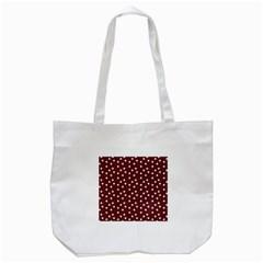 Floral Dots Maroon Tote Bag (white) by snowwhitegirl