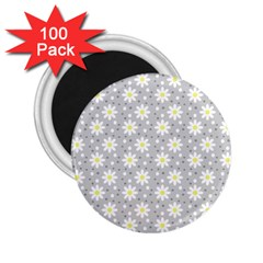Daisy Dots Grey 2 25  Magnets (100 Pack)  by snowwhitegirl