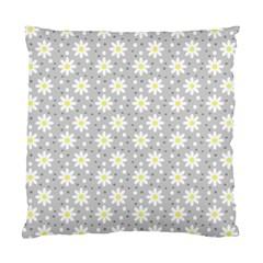 Daisy Dots Grey Standard Cushion Case (one Side) by snowwhitegirl