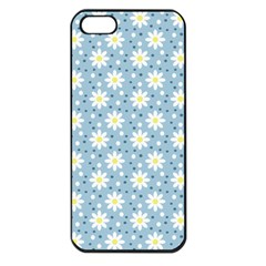 Daisy Dots Light Blue Apple Iphone 5 Seamless Case (black) by snowwhitegirl