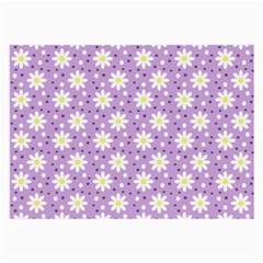 Daisy Dots Lilac Large Glasses Cloth