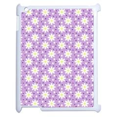 Daisy Dots Lilac Apple Ipad 2 Case (white) by snowwhitegirl